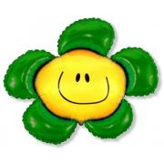 Цветок зеленый, гелиевый, фольгированный шар