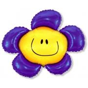 Цветок фиолетовый, гелиевый, фольгированный шар