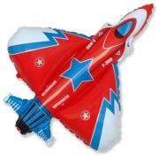 Истребитель триколор, гелиевый, фольгированный шар