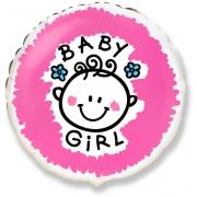 Девочка, гелиевый, фольгированный шар