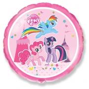 Пони (My little pony), гелиевый, фольгированный шар