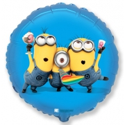 Вечеринка Миньоны, гелиевый, фольгированный шар