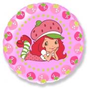 Девочка-клубничка ягодки (Strawberry), гелиевый, фольгированный шар