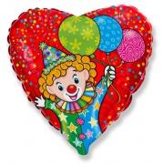 Весёлый клоун, гелиевый, фольгированный шар