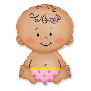 Малышка, гелиевый, фольгированный шар